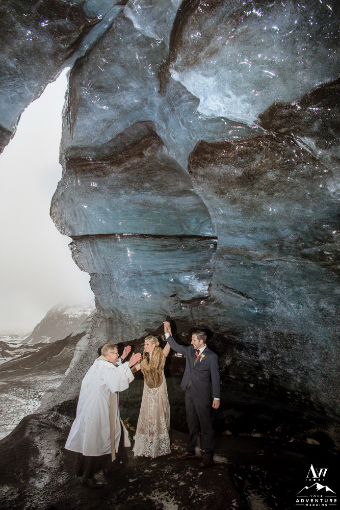 Ice Cave Wedding Ceremony Photos