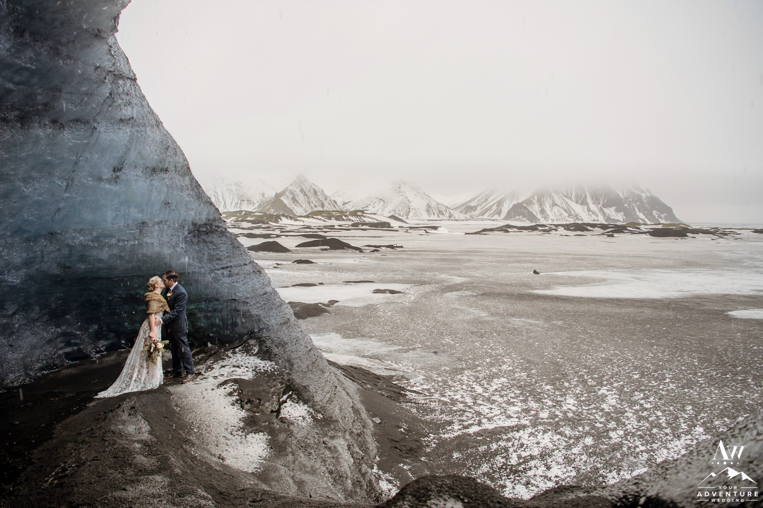 Couple from the USA Elopes in Ice Cave