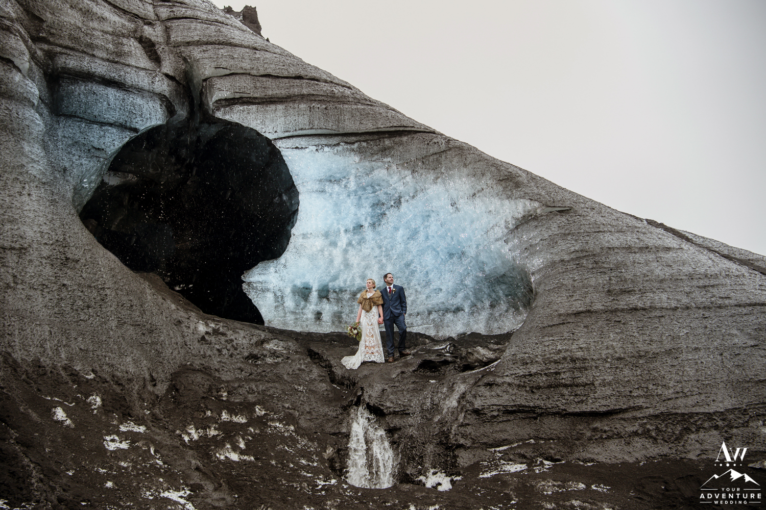 Eloping at an Ice Cave Elopement in Iceland