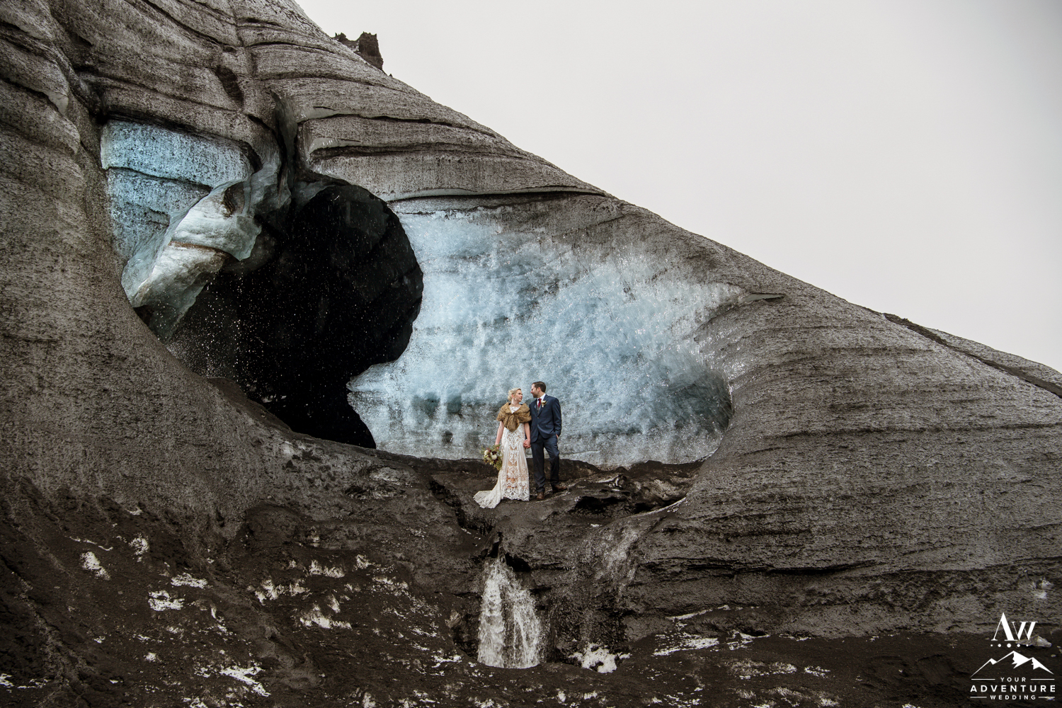 Ice Cave Elopement Photos at a Glacier in Iceland
