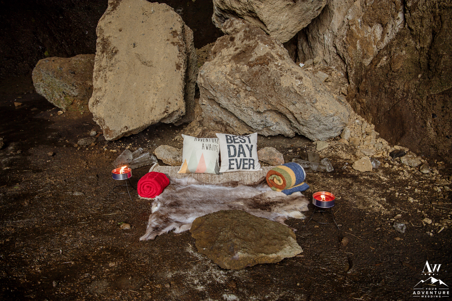 Iceland Luxury Picnic inside of a Cave