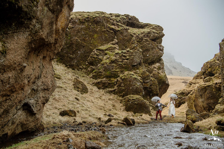 Iceland canyon wedding photos