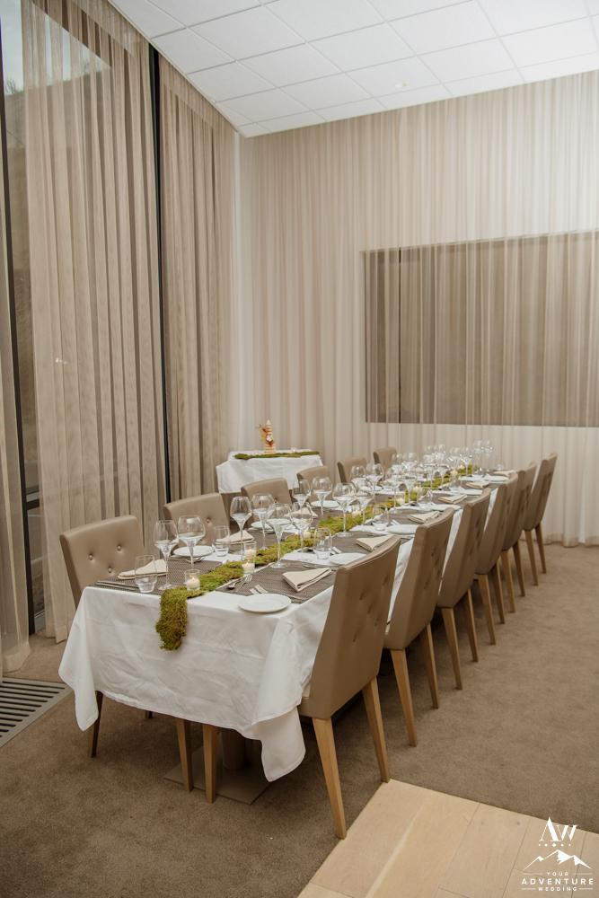 Wedding Reception Setup at Icelandair Vik