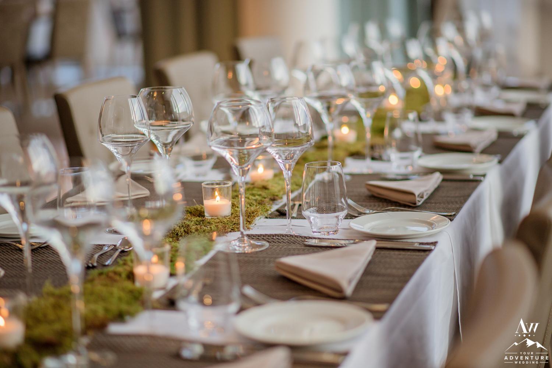 Iceland Wedding Reception setup at Icelandair Vik