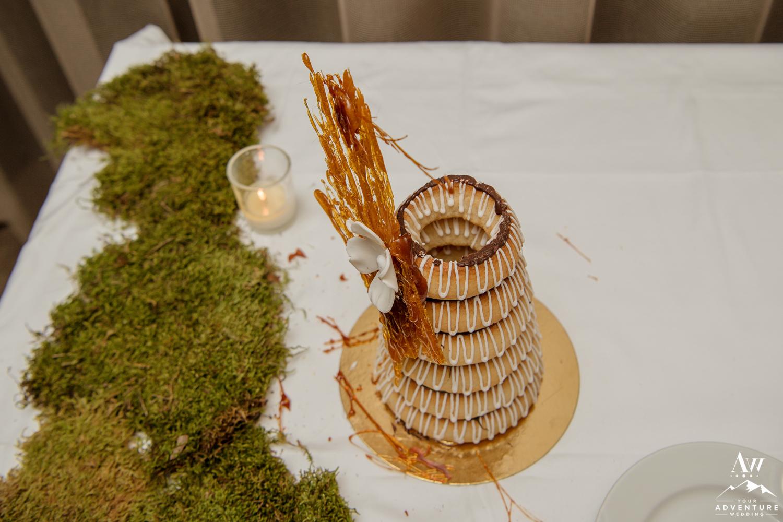 Inside of an Iceland Wedding Cake