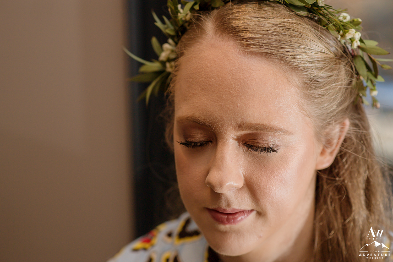 Iceland Bride Close up of Makeup