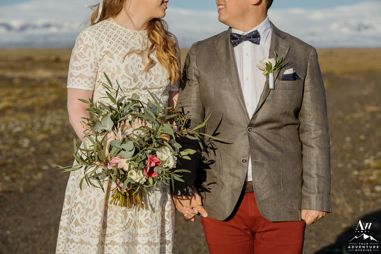 Iceland wedding details closeup