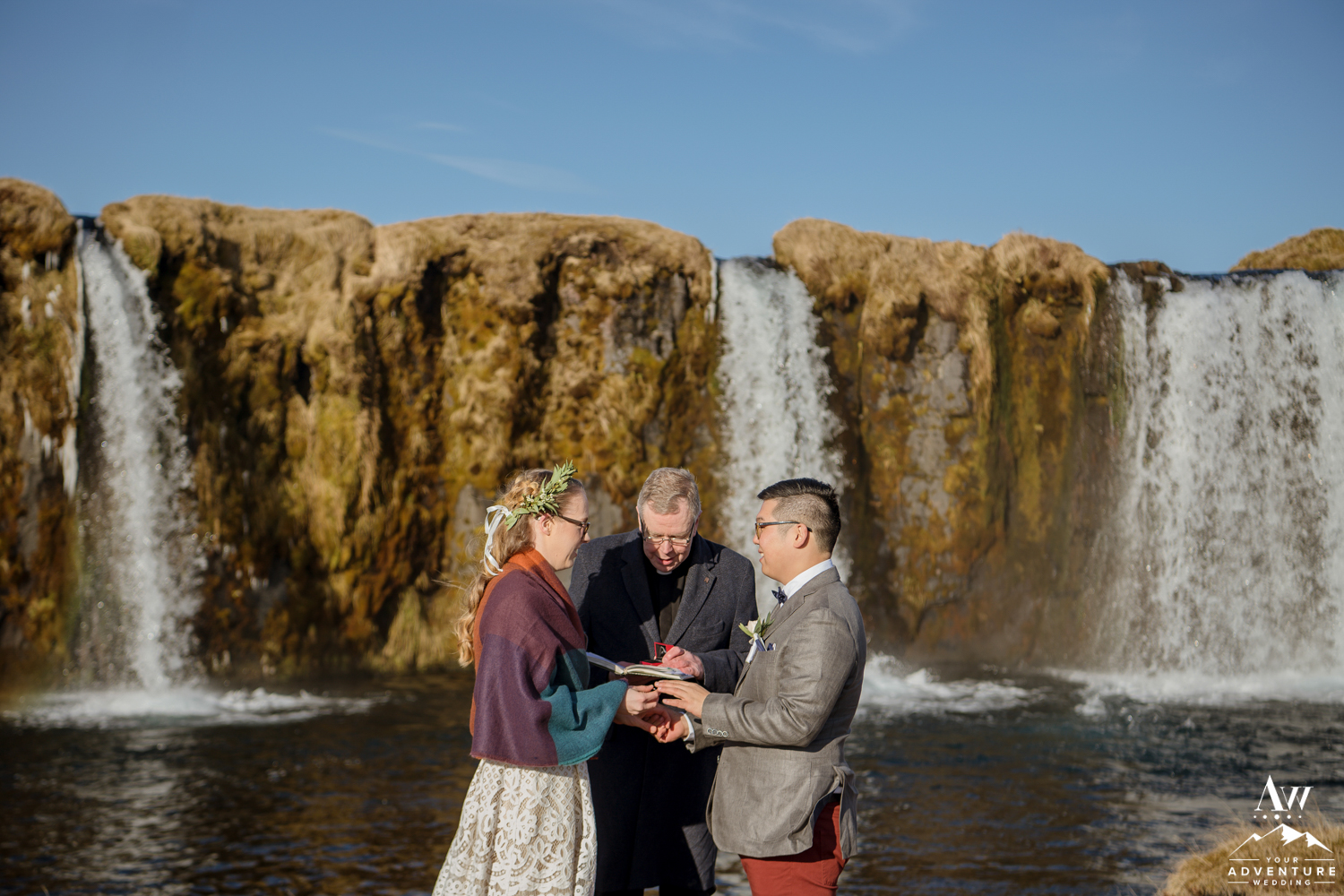 Iceland Private Waterfall Wedding Ceremony