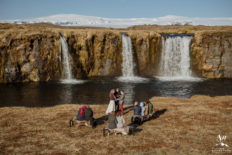 Secret Waterfall Wedding Ceremony in Icelanf