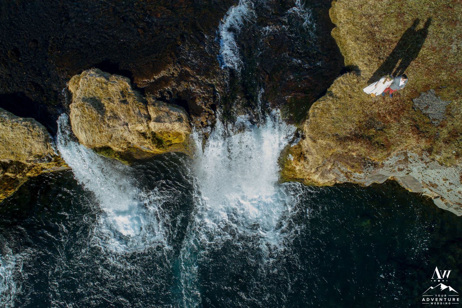 Iceland Waterfall Wedding Drone Photos