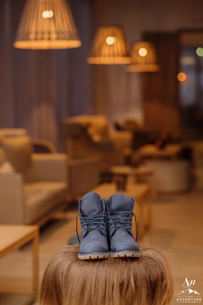 Iceland Groom Boots at Icelandair Vik
