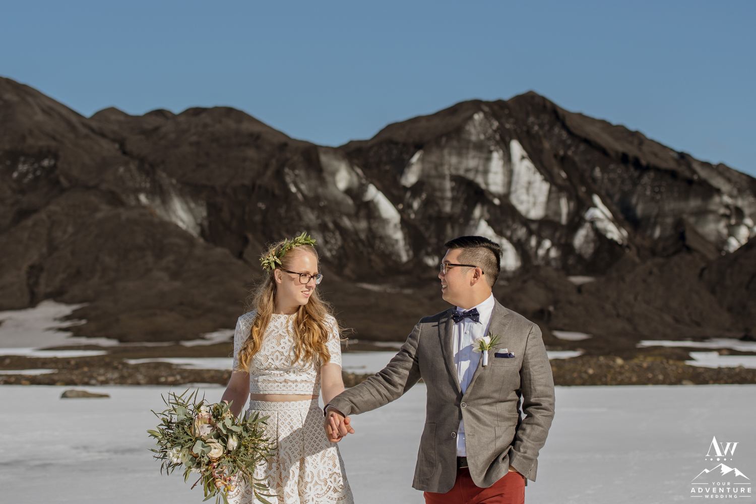 Iceland wedding photos of yong and zosia