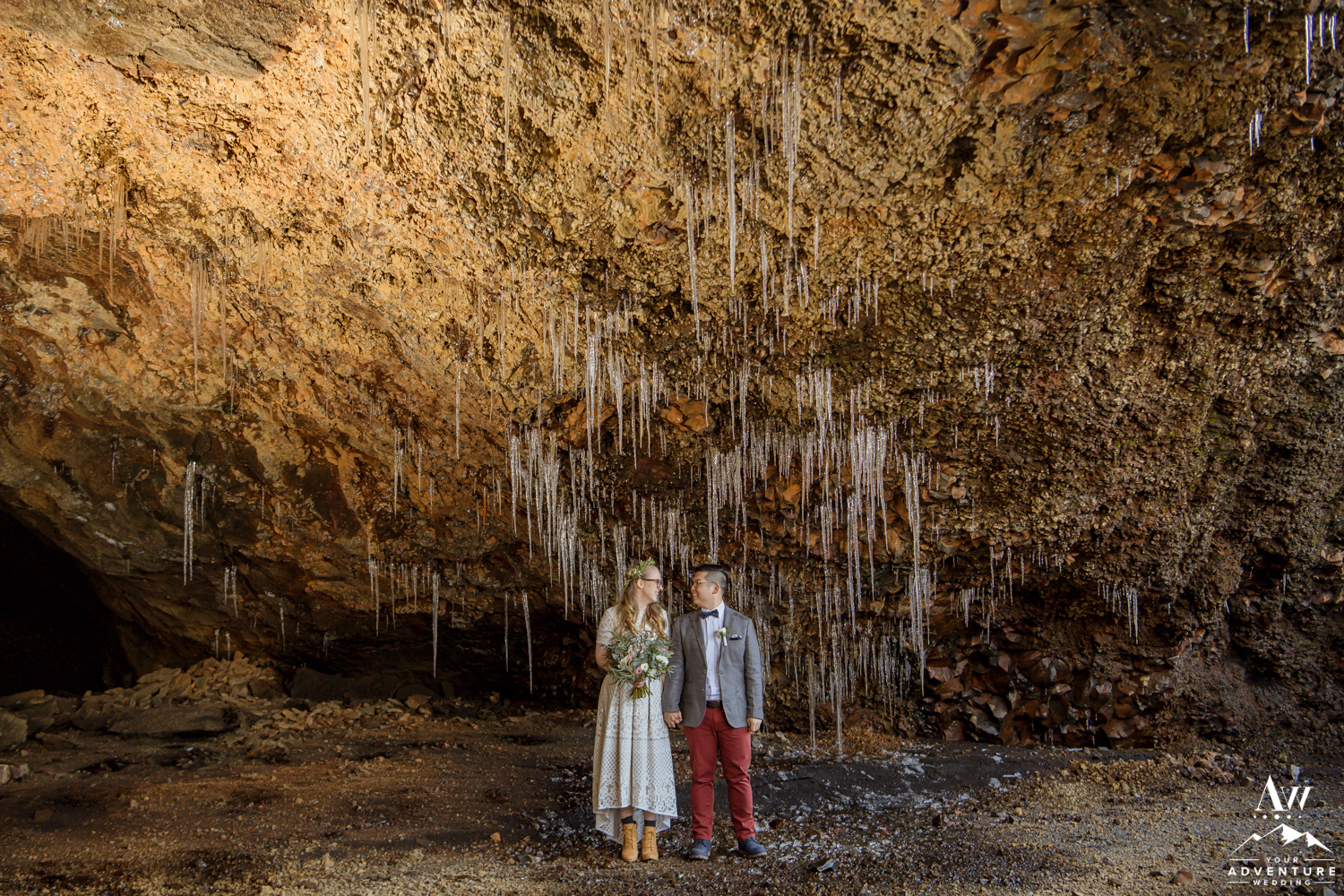 Iceland Natural Cave Wedding Photos