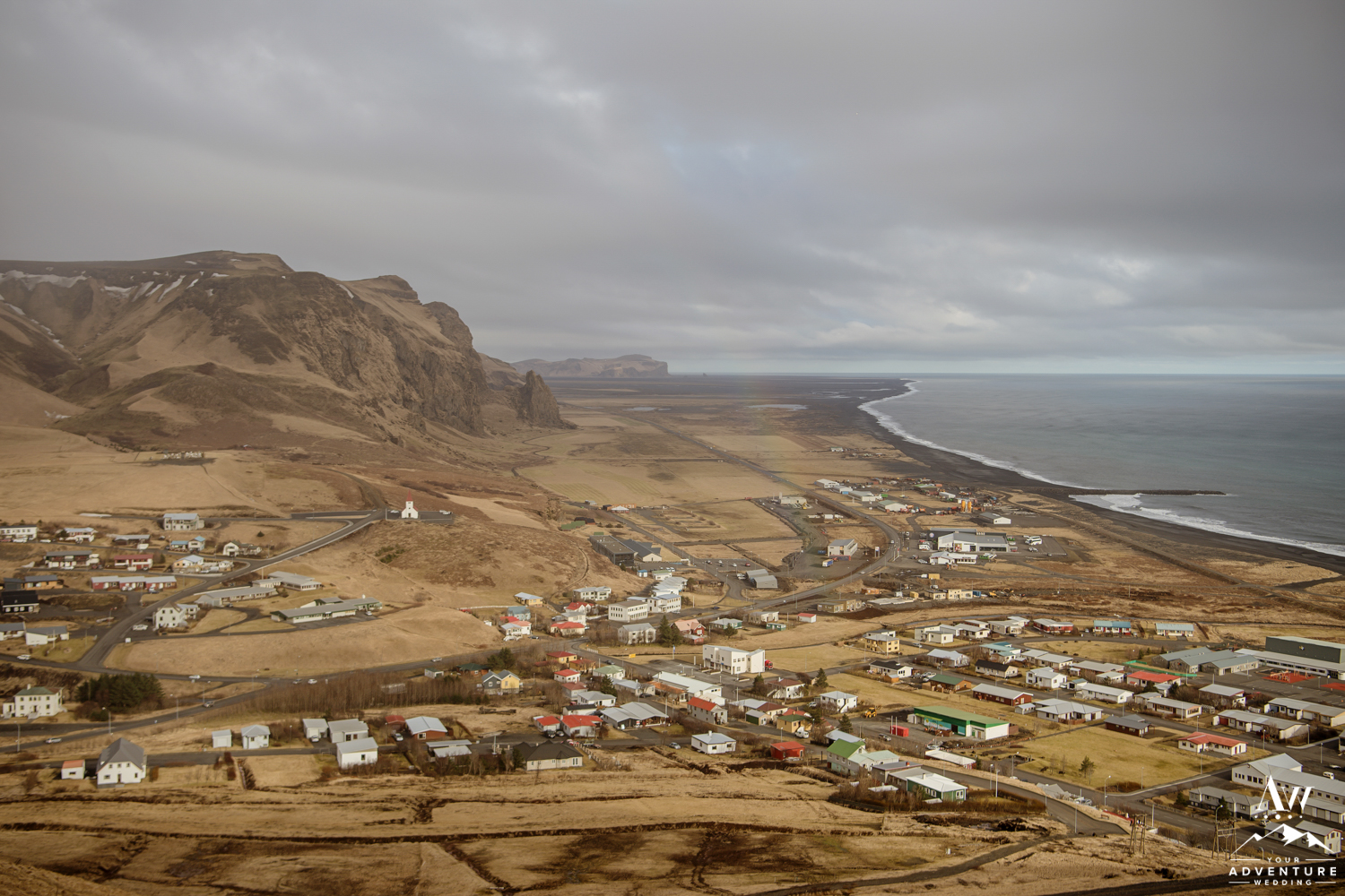 Overview of the Town of Vik Iceland