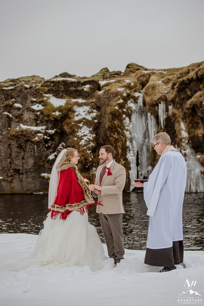 eloping in southern iceland wedding ceremony