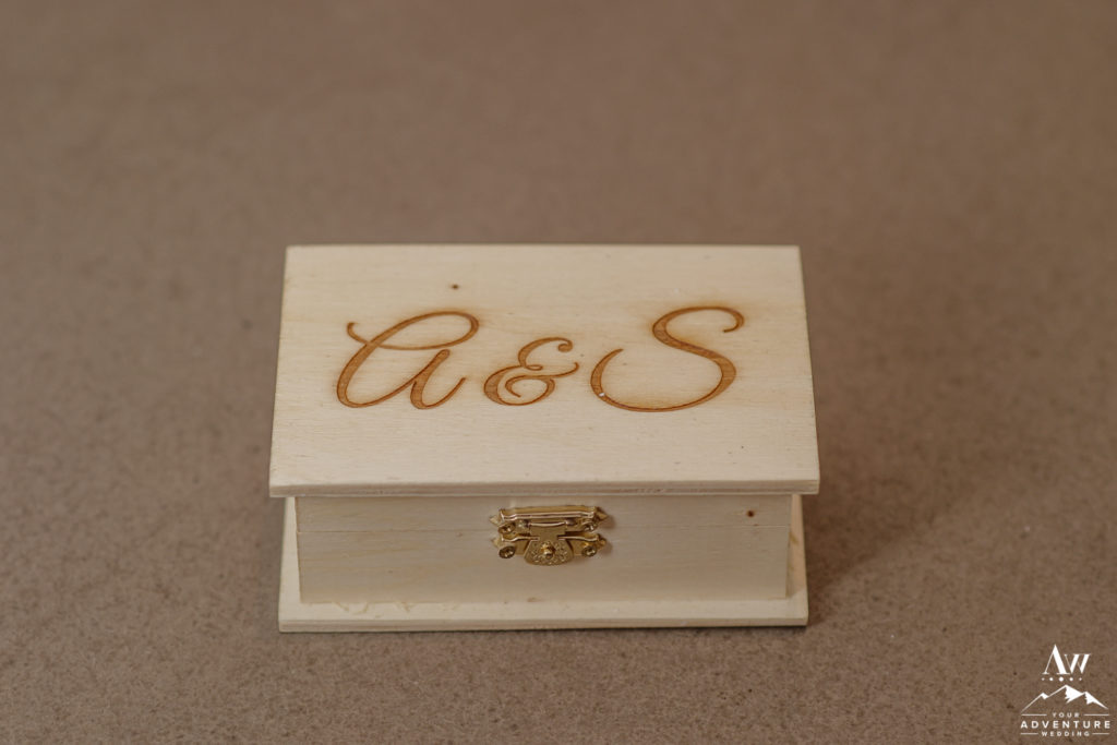 Wooden Ring Box for Iceland Wedding