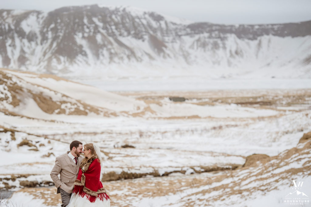 Iceland Mountain Elopement in March