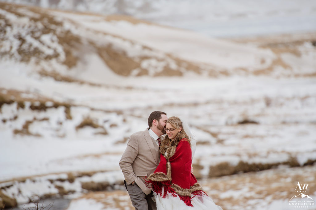Winter Mountain Elopement in Iceland