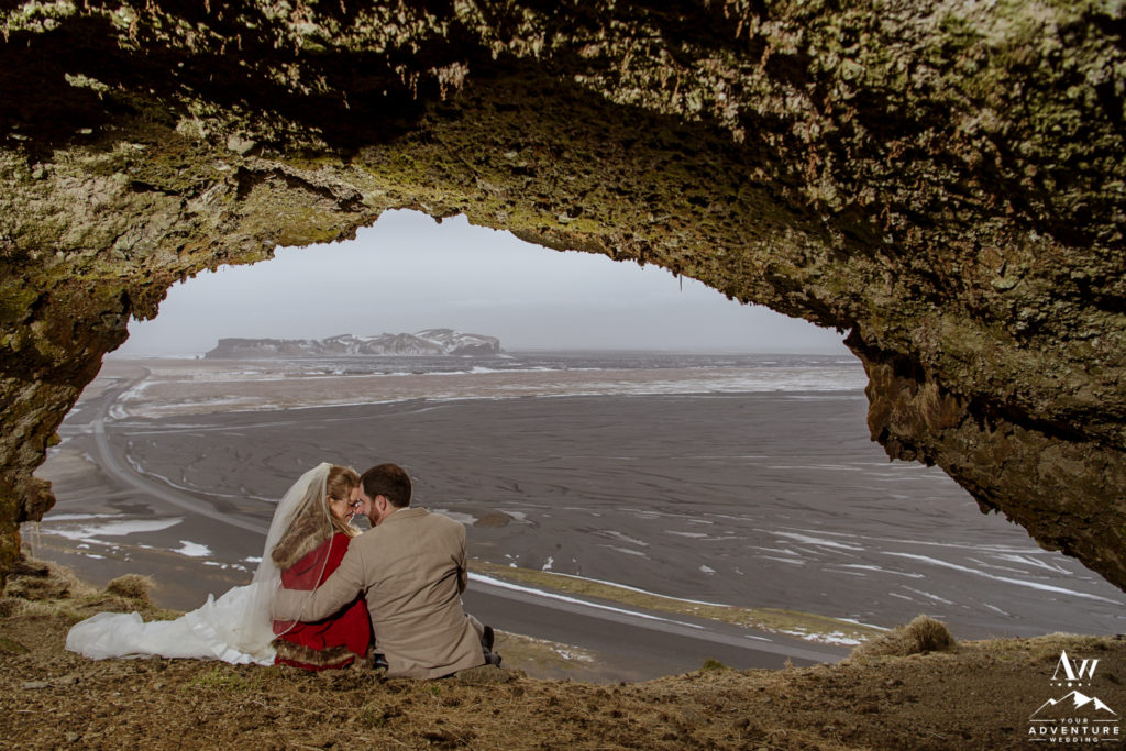 Iceland Private Cave Elopement Photos