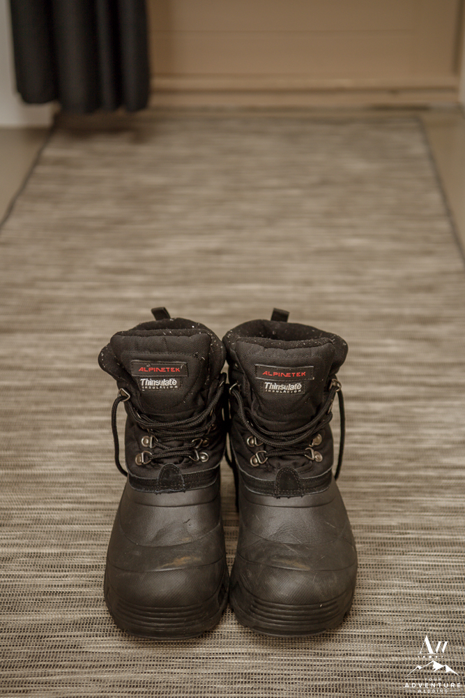 Winter Boots for Iceland Elopement Groom