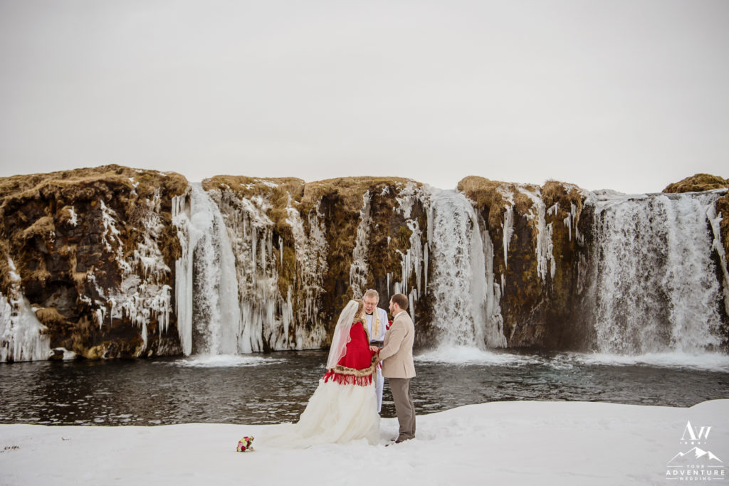 Winter Wedding Ceremony in Iceland