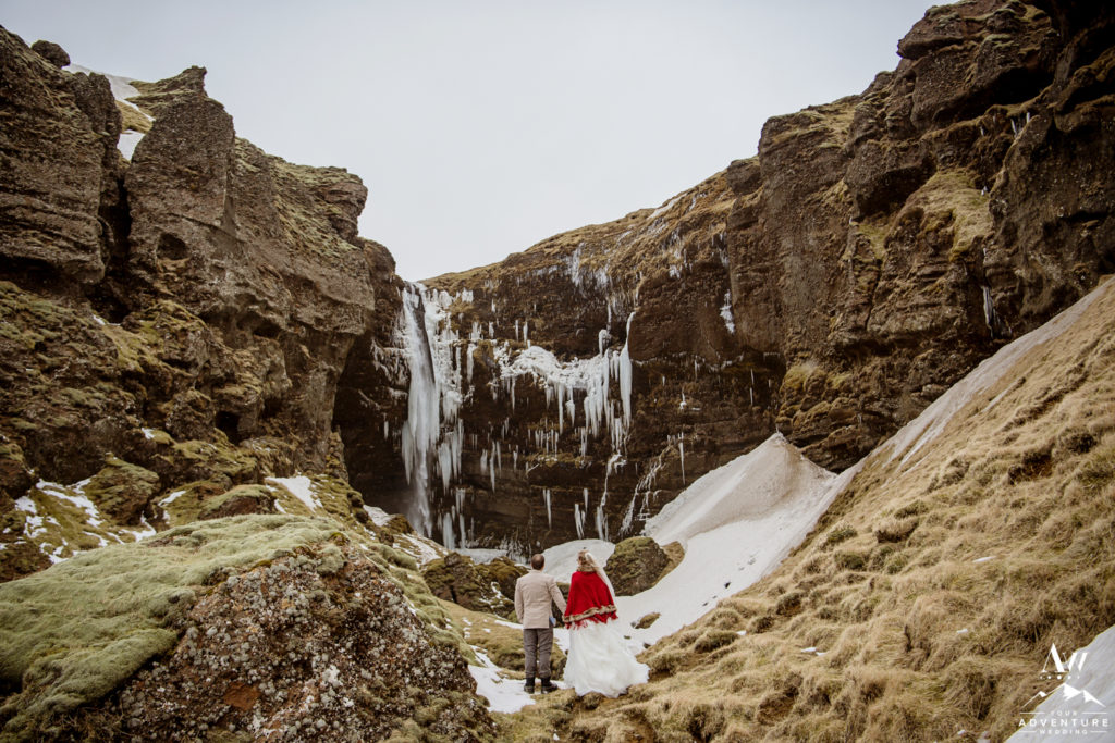 Private Waterfall Wedding in Iceland
