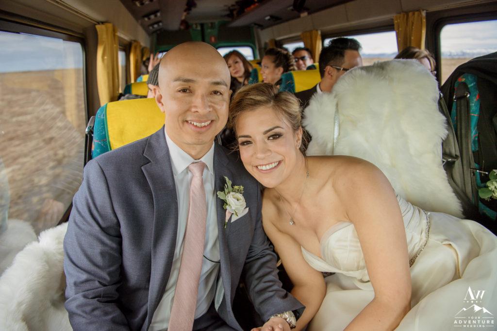 Iceland bus wedding adventure Mel and Sam