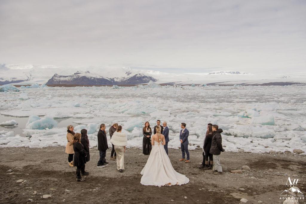 Jökulsárlón Glacier Lagoon Wedding Ceremony Location