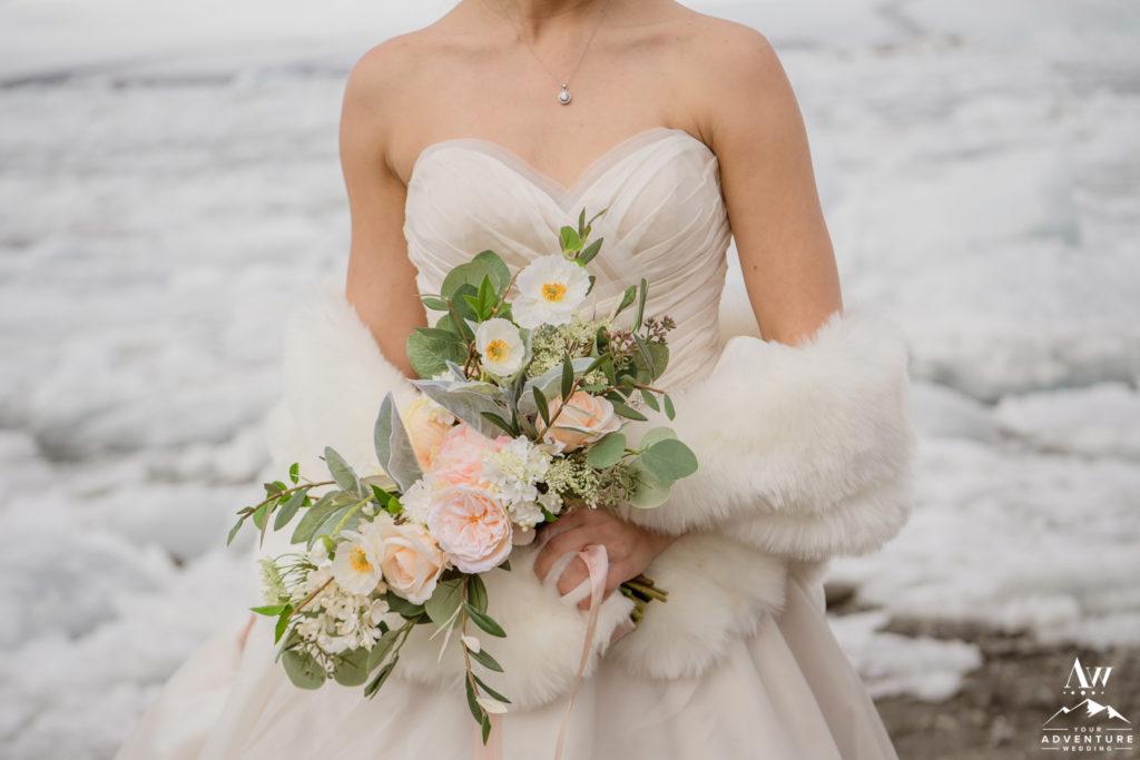 Iceland wedding bouquet silk flowers