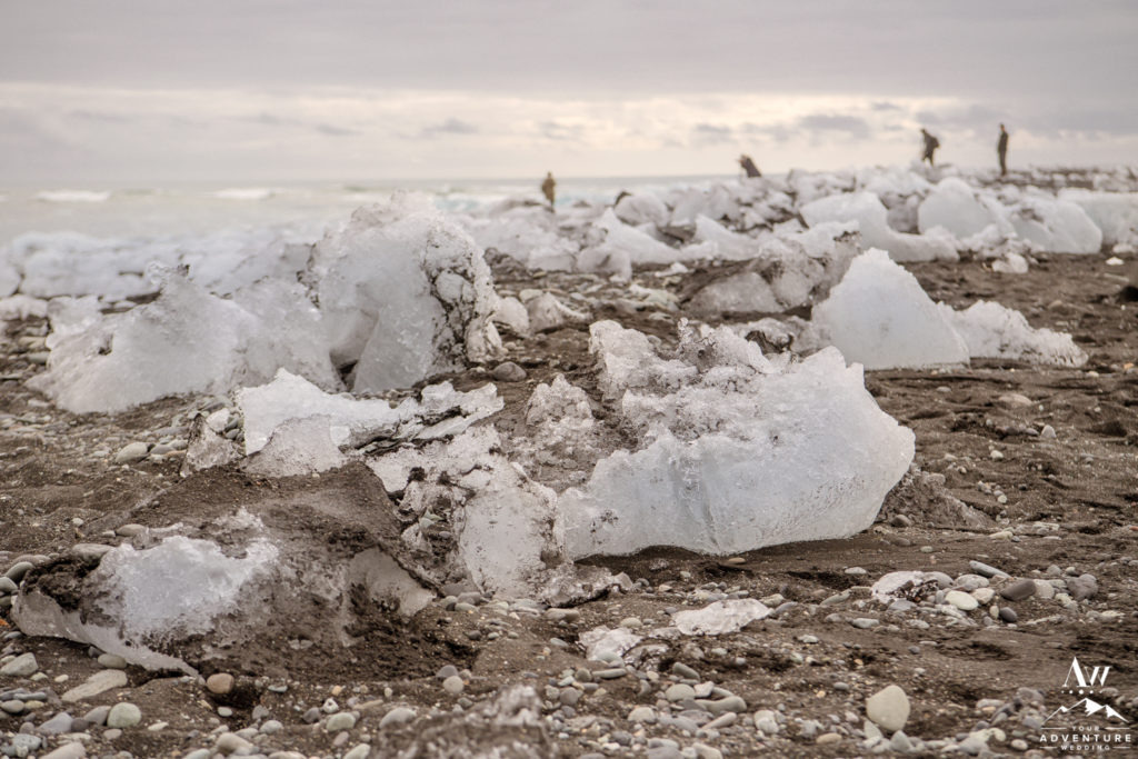 Icebergs on Diamond Beach in Iceland