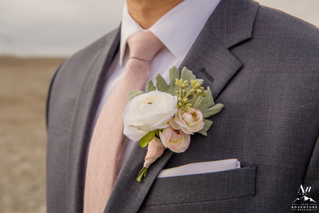 Iceland Wedding Boutonniere from Southern Girls Weddings on Etsy