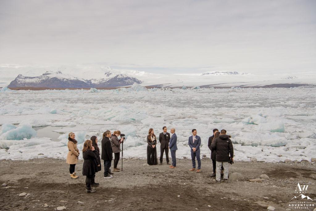 Iceland Wedding Group at Jökulsárlón Glacier Lagoon