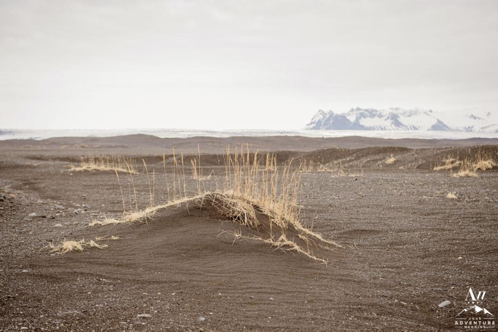 Black Sand Dunes during Iceland Wedding
