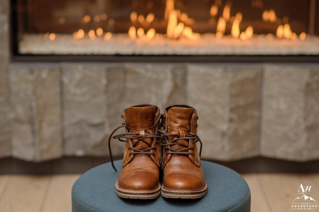 Iceland adventure wedding groom boots