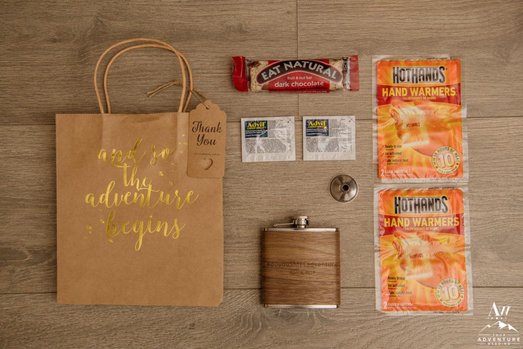 Iceland wedding welcome bags