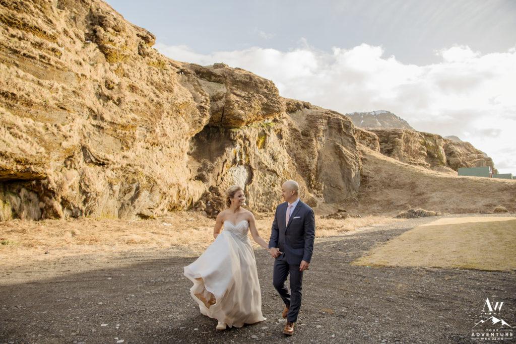 Couple behind Icelandair Vik for first look