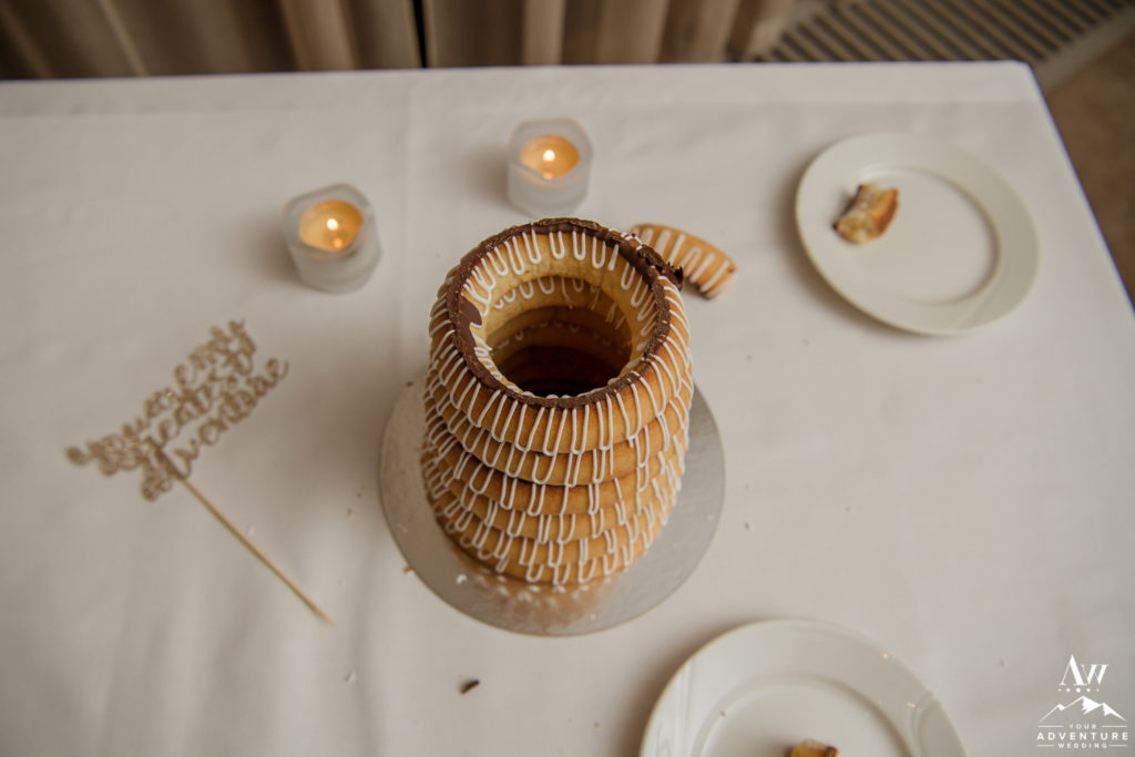 The Inside of a Kransakaka Iceland Wedding Cake