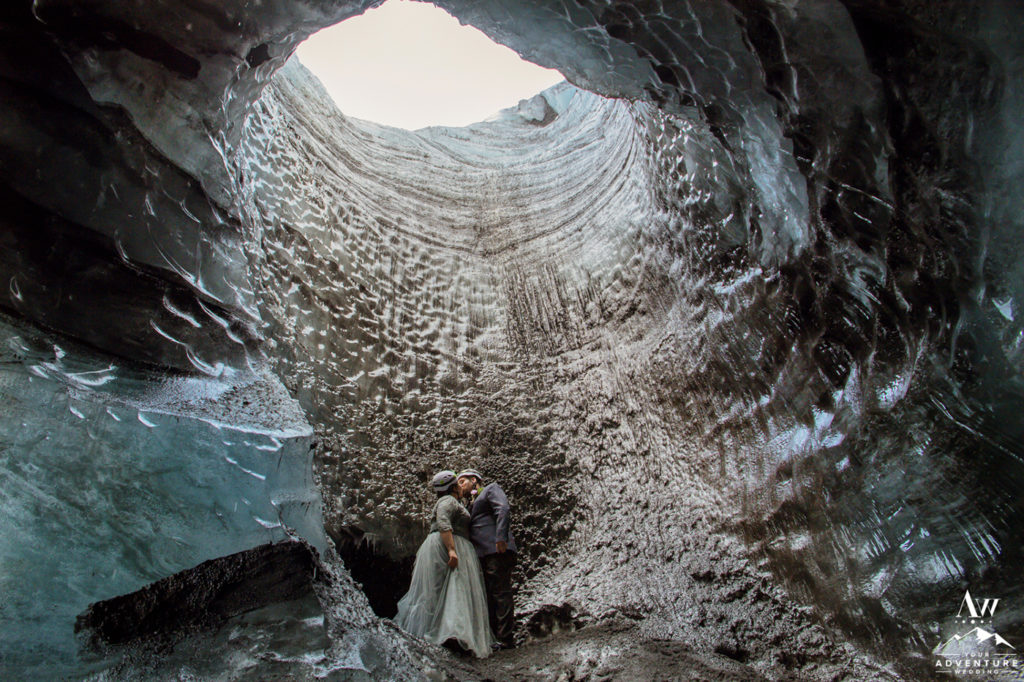 Adventurous Wedding in Iceland inside of an Ice Cave
