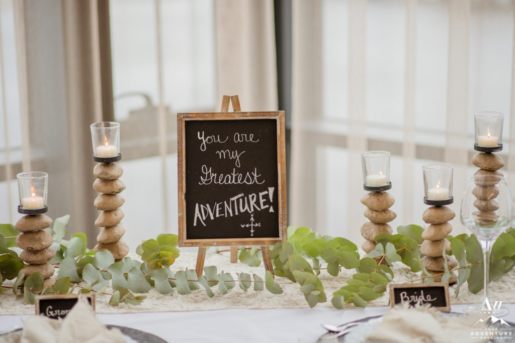 You are my greatest adventure sign for Iceland Wedding Reception