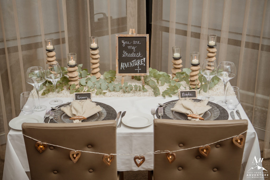 Styled Iceland Wedding Reception for two