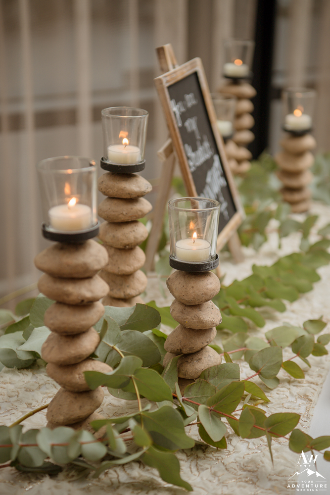 Basalt Rock Candles with Eucalyptus