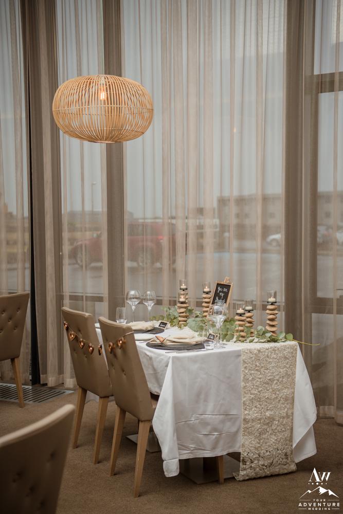 Luxury Iceland Wedding Reception Setup