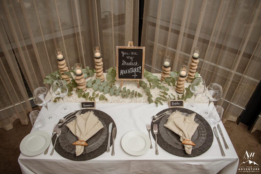 Iceland Luxury Elopement Reception Setup