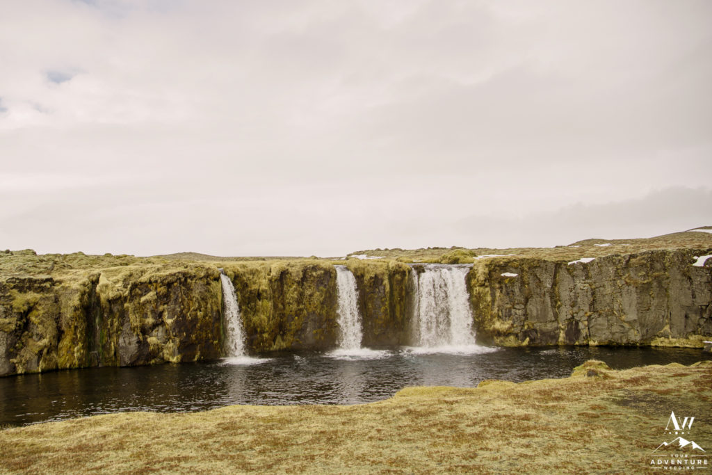 Iceland Elopement private waterfall ceremony location