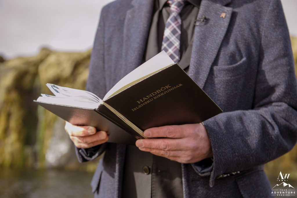 Iceland Wedding Ceremony Pastor