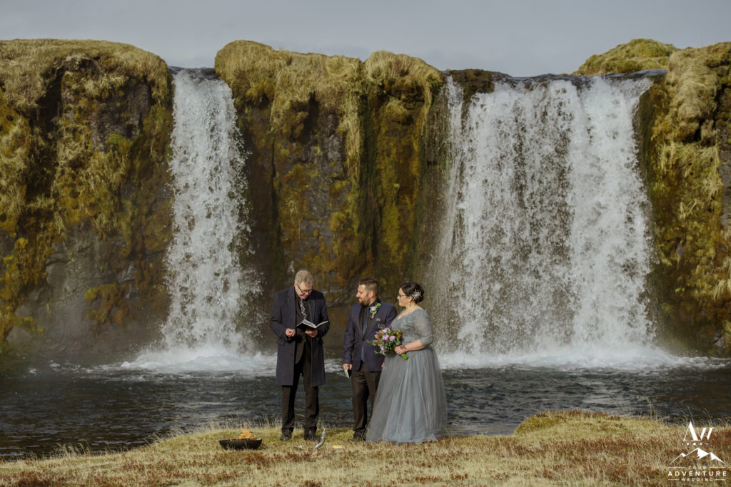 Private Waterfall Wedding Ceremony in Iceland