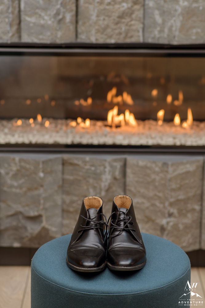 Black Groom Shoes for Iceland Wedding Day