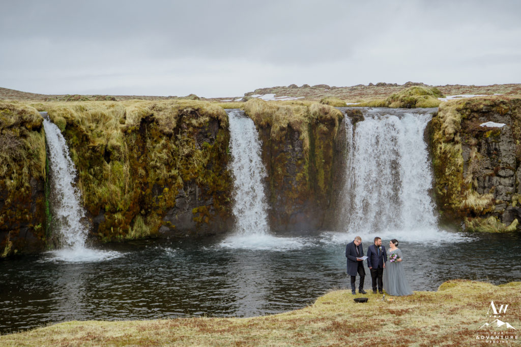 Private Waterfall Iceland Wedding Ceremony