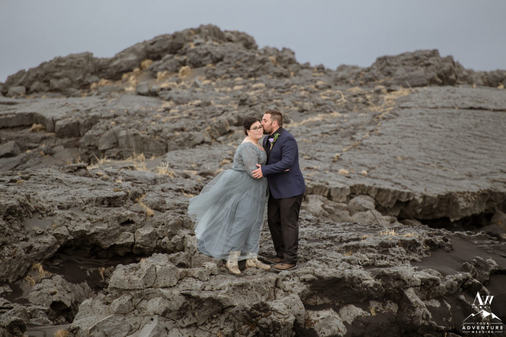 Forehead kiss during Iceland Elopement