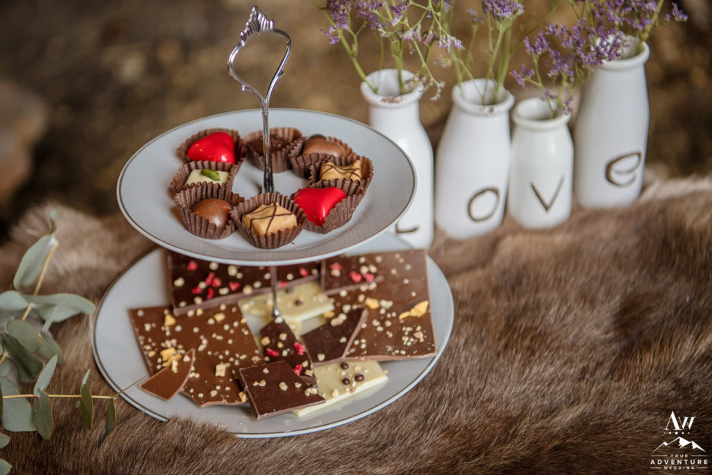 Icelandic Chocolates for Luxury Winter Elopement in Iceland